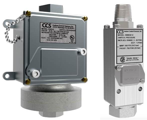 CCS Pressure and Temperature Switches Ex