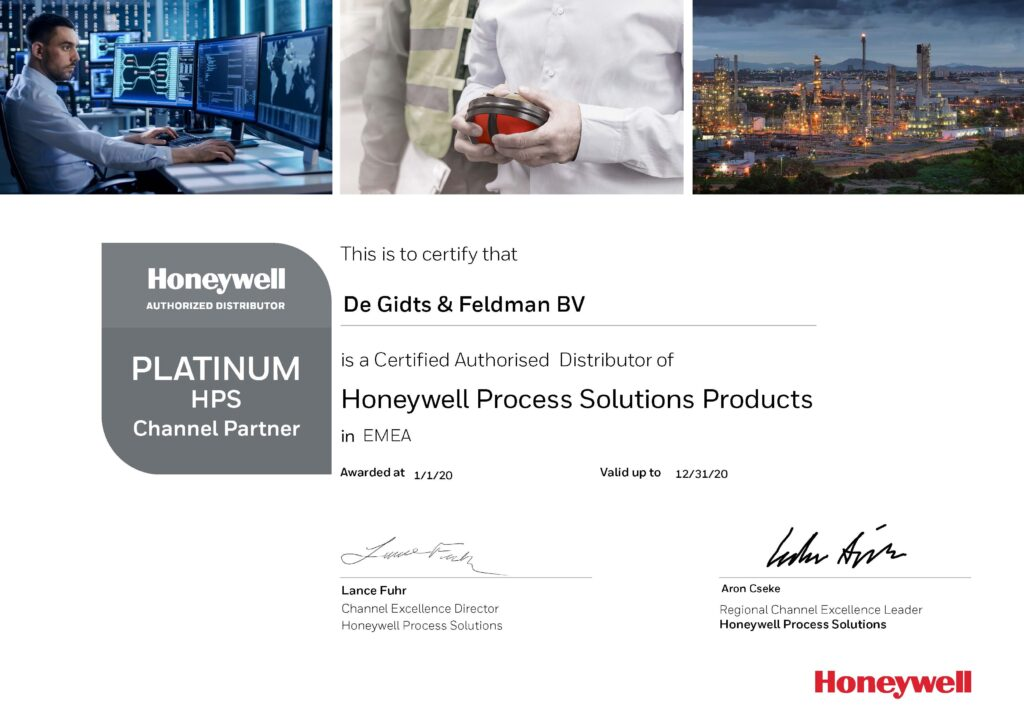 Platinum Channel Partner Honeywell